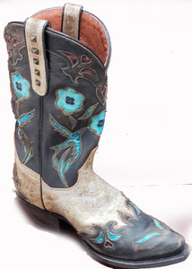 VINTAGE CAT BIRD LEATHER BOOT