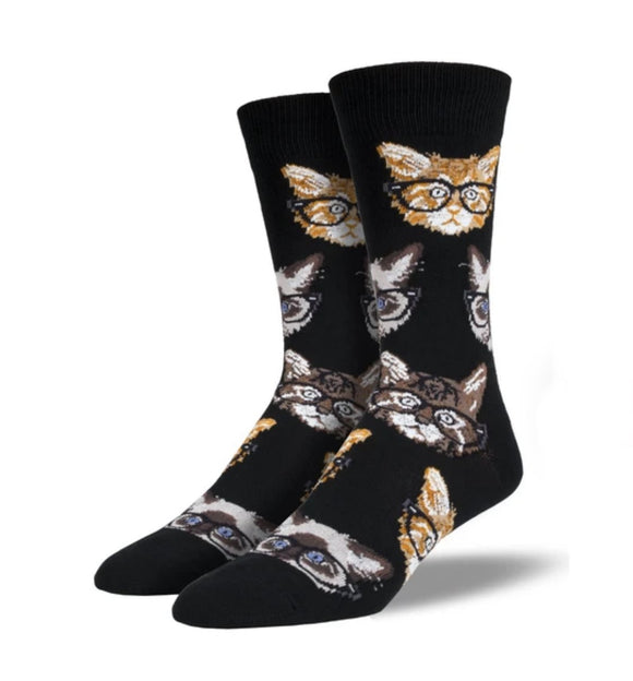 Kittenster (Black) Men's Funky Socks