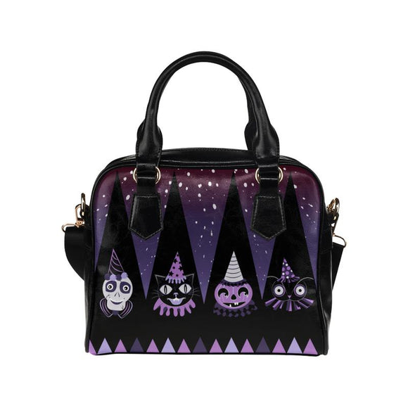 Halloween Party Animal Purple Haunted Handbag
