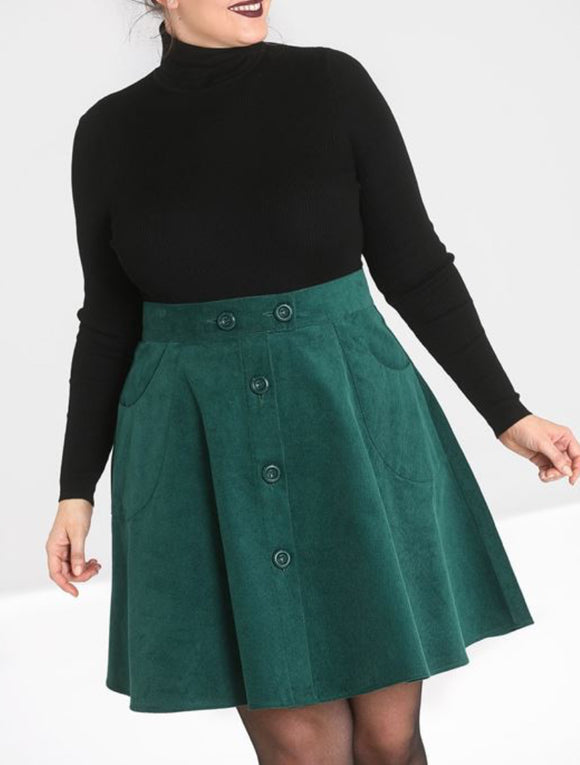 Dark Green Wonder Years Skirt