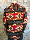 NATIVE PATTERN FLEECE RED