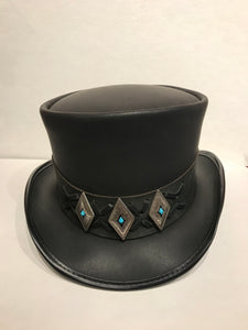 El Dorado Top Hat with Finished Lace Concho