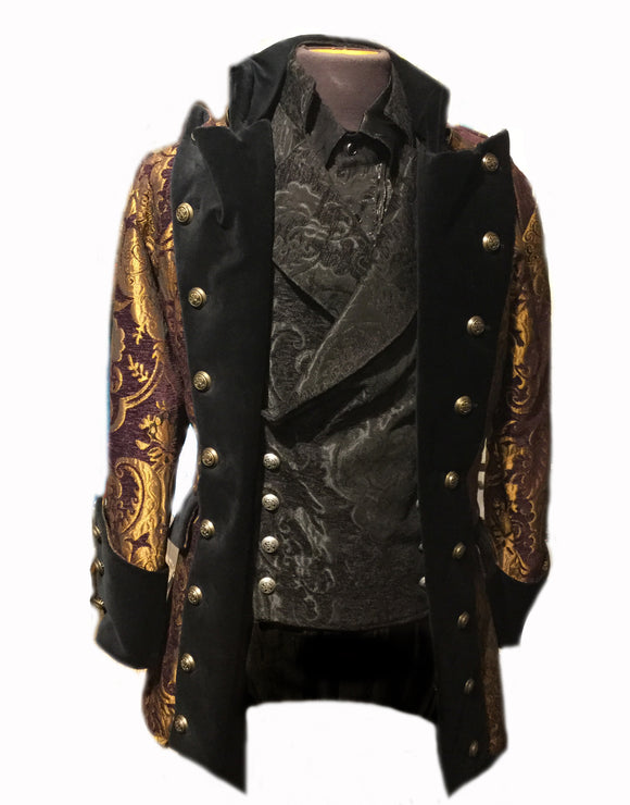 Purple and Gold Brocade Coat