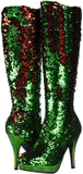 MERMAID FLIP SEQUIN HEELS GREEN TO RED