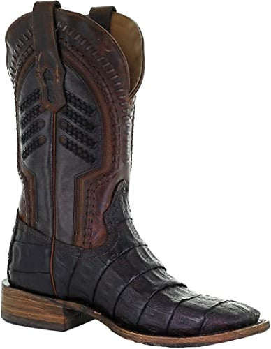 Oil Brown Caiman Boots
