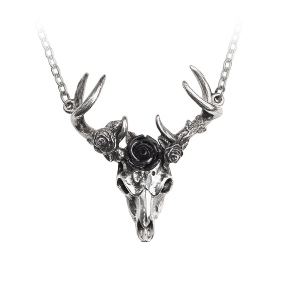 White Hart, Black Rose Pendant