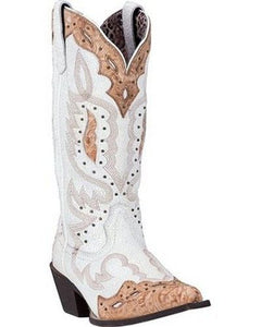 Presley Western Crackle Boots with Snip Toe