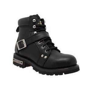 MEN'S ZIPPER LACE BIKER BOOT