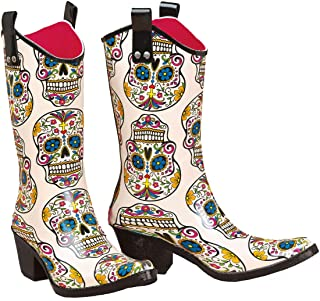 Sugar Skull Rainboots