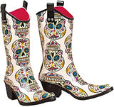 SUGAR SKULL RAINBOOT