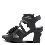 Shelly Heeled Sandal - Black