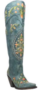 Flower Child Knee High Leather Boots