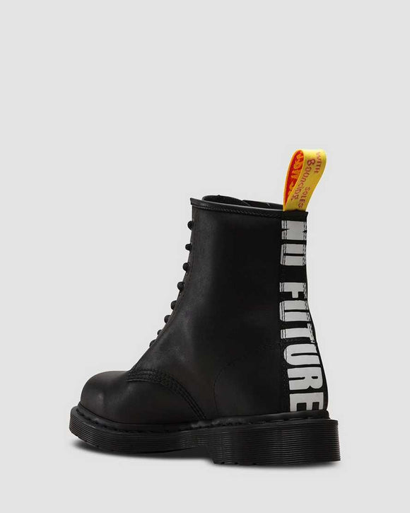 1460 SEX PISTOLS NO FUTURE GREASY LACE UP BOOTS BLACK