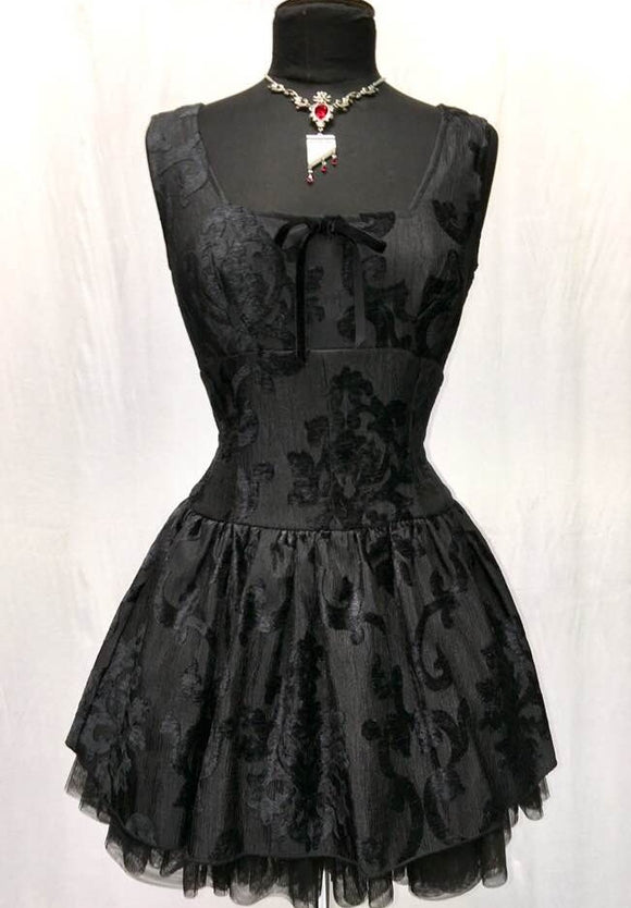 Black Velvet Ballet Dress - LAST ONE!