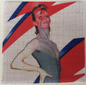 David Bowie Linen Patch