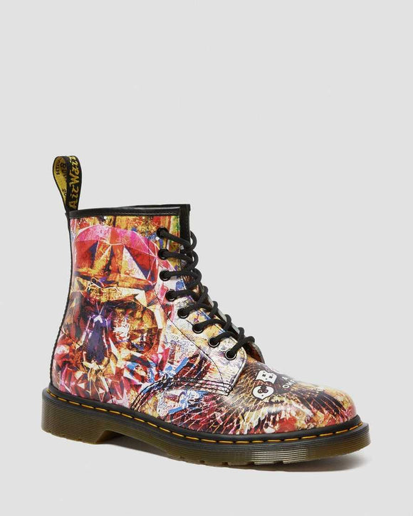 1460 CBGB PRINTED LEATHER BOOTS MULTI