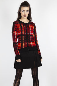 Don't Cross Me Plaid Cardigan