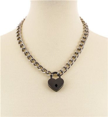 Love Lock Necklace - Black