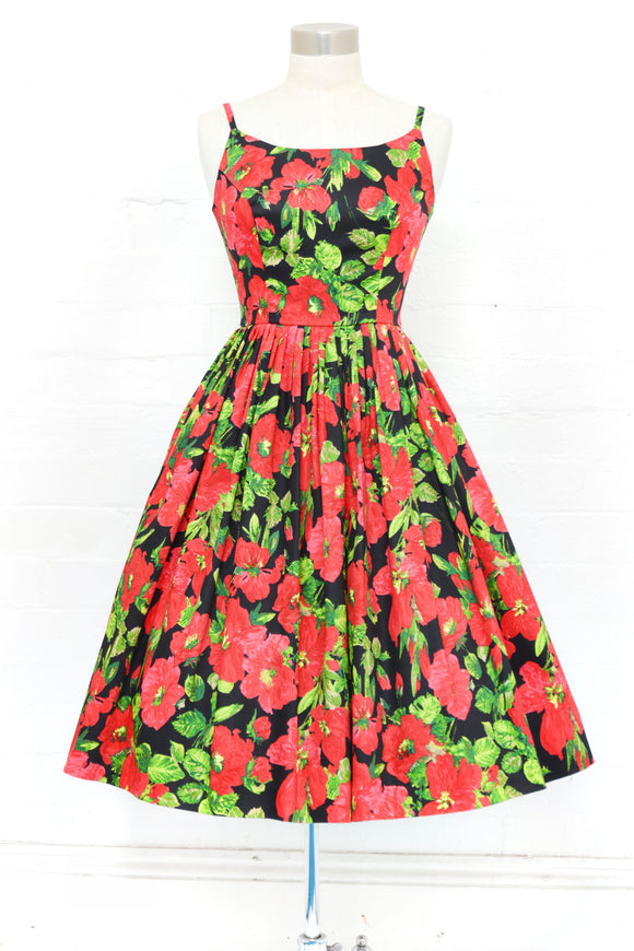 Gigi Poppy Floral Dress
