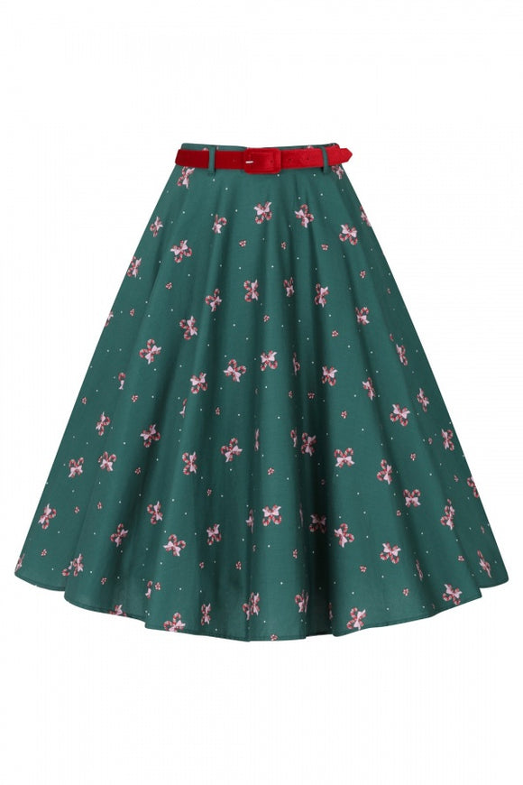 Beth 50's Skirt - Candy Cane