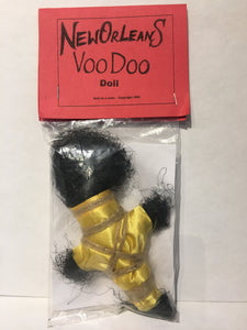 Yellow and Brown Rope Voodoo Doll