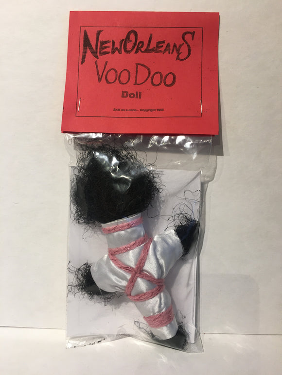 White and Pink Rope Voodoo Doll