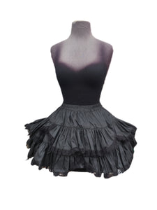 Black Taffeta Skirt