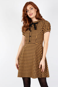 Louise Plaid Collar Dress