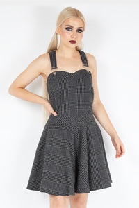 Jawbreaker Miss Morbid Plaid Pinafore Dress