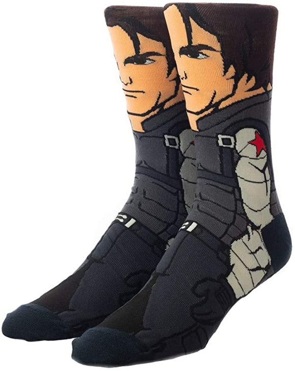 Winter Soldier Marvel Character Socks