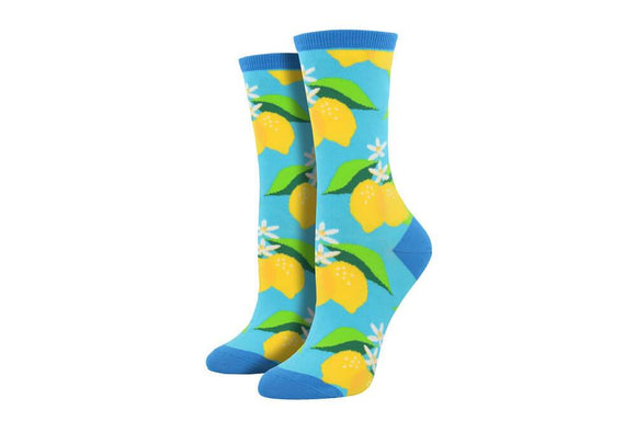 Lemon (Blue) Women's Funky Socks