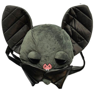 BAT PLUSH BAG GREY BLACK