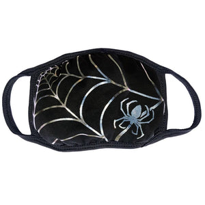 Spiderweb Metallic Face Mask