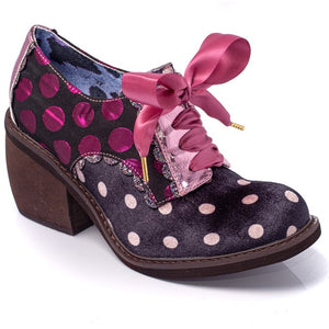 TIPPLE POLKA DOT LACE UP PINK