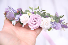 Load image into Gallery viewer, Flower crown - Violet