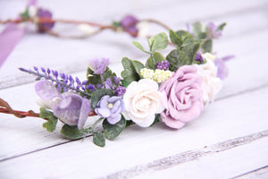 Flower crown - Violet