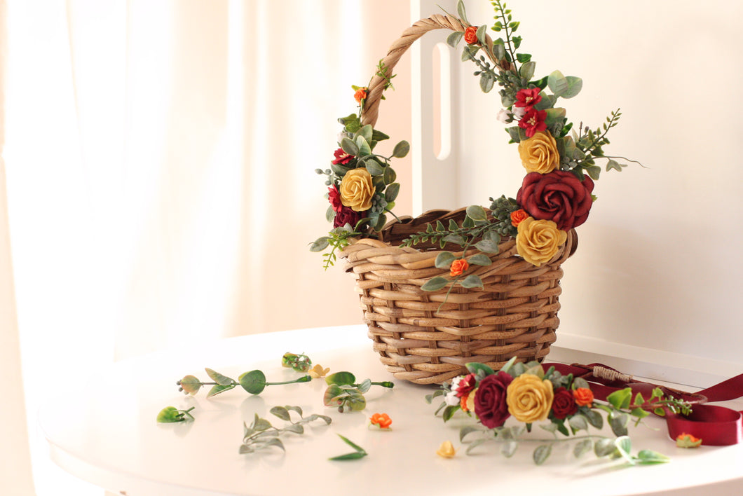 Flower Basket large - Ruby