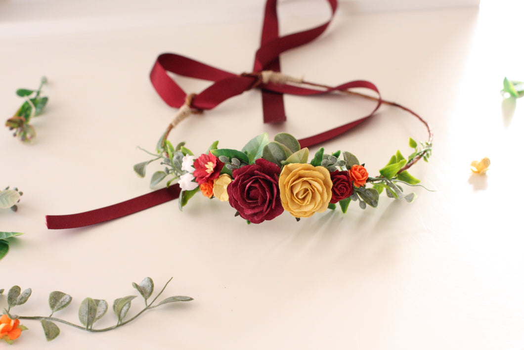 Flower crown - Ruby