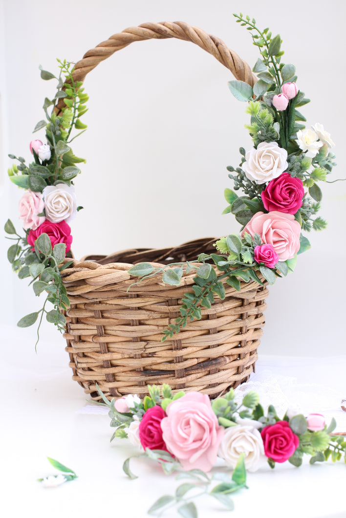 Flower Basket - Flamingo