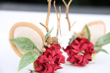 Load image into Gallery viewer, Reindeer antler clips - Red