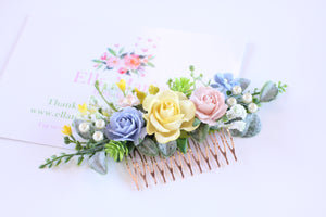 Floral hair comb - Summer Delight