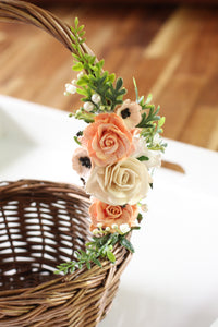Floral basket - Perfectly Peach