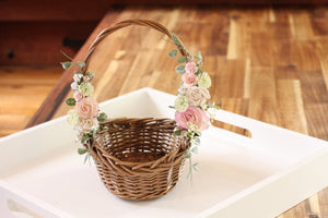 Floral Basket - Cotton Tail