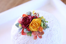 Load image into Gallery viewer, Floral hair clip - Autumn