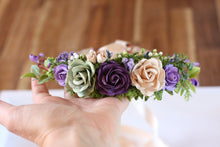 Load image into Gallery viewer, Flower crown - Ebony