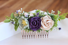 Load image into Gallery viewer, Floral comb - Ebony