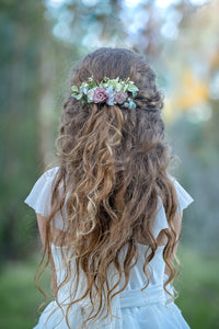 Floral hair comb - All that Glitz