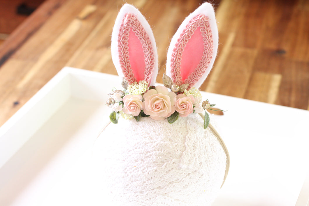 Floral headband Nylon - Cotton Tail