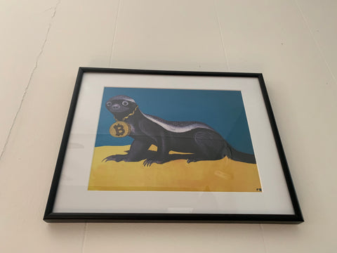 Head Honey Badger In Charge Prints
