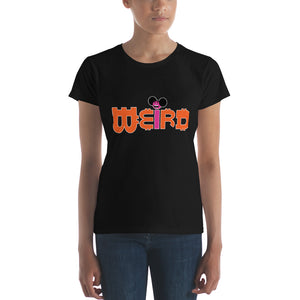 Women's short sleeve Bitcoin Weird t-shirt